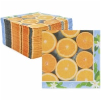 Orange Paper Napkins, Citrus Fruit Summer Party Decorations (6.5 In, 150 Pack) - PACK