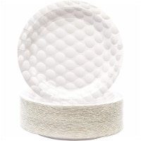 Golf Paper Plates for Sports Birthday Party (White, 9 Inches, 80 Pack) - PACK
