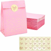 Pink Gift Bag, Party Favor Bags with Gold Stickers (5.15 x 8.6 in, 36 Pack) - PACK