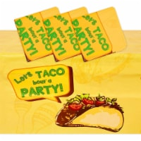 Mexican Fiesta Tablecloth, Let's Taco Bout A Party (54 x 108 in, 3 Pack) - PACK