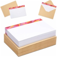 Single Panel Note Cards with Kraft Envelopes (4 x 6 Inches, 72 Pack) - PACK
