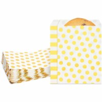 Small Paper Treat Bags for Cookies and Goodies, Gold (7.55 x 5.2 In, 100 Pack) - PACK
