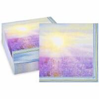 Sunset Paper Napkins (Lavender, 6.5 x 6.5 In, 150 Pack) - PACK