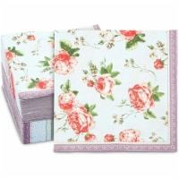 Pink Rose Napkins for Flower Party, Floral Decorations (6.5 x 6.5 In, 150 Pack) - PACK