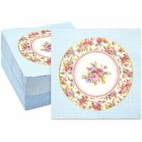 Vintage Floral Paper Napkins, Watercolor Rose (6.5 x 6.5 In, 150 Pack) - PACK