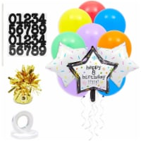 Customizable Happy Birthday Foil Star and Latex Balloons for Party Decor (43 Pieces) - PACK