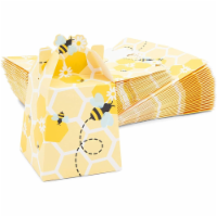 Paper Treat Boxes for Bee Party Favors (3.5 x 3.5 x 8 in, 50 Pack) - PACK