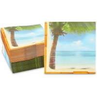 Tropical Paper Napkins for Luau, Hawaiian Party (6.5 x 6.5 Inches, 150 Pack) - PACK