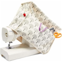 Canvas Sewing Machine Dust Cover with Pockets (17 x 13 x 8 Inches) - PACK