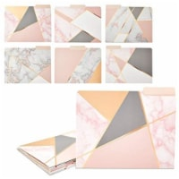 Geometric Marble File Folders, Rose Gold Office Supplies (Letter Size, 12 Pack) - PACK