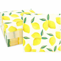 Lemon Birthday Party Cocktail Napkins (5 In, 100 Pack) - PACK