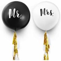 Jumbo Mr. & Mrs. Wedding Balloons with Tassel (36 in, 2 Pack) - PACK
