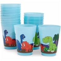 Blue Panda Dinosaur Reusable Plastic Party Cups – Pack of 16 – Blue - PACK