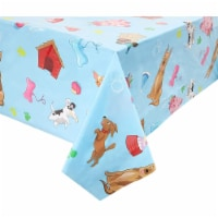 Blue Panda Puppy Dog Themed Party Table Covers (54 x 108 in, Rectangle, 3 Pack) - PACK
