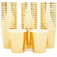 Gold Foil Party Paper Cups (9oz, 50 Pack) - PACK