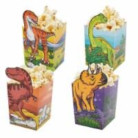 Blue Panda Dinosaur Popcorn Boxes for Treats, Goodies (60 Count) 4 Designs - Pack