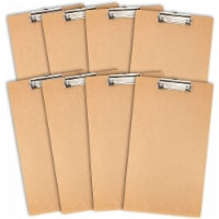 Juvale Hardboard Clipboards with Low Profile Clip (9 x 15.5 in, 8 Pack) - PACK