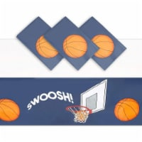 Basketball Plastic Table Cloths, Sports Themed Party Supplies (54x108 in, 3 Pack) - PACK