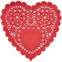 Heart Shaped Paper Lace Doilies for Weddings, Valentines Décor (4 In, 200 Pack) - PACK