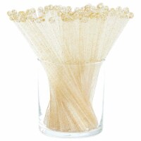 Blue Panda Gold Glitter Swizzle Sticks for Cocktails (Pack of 100)
