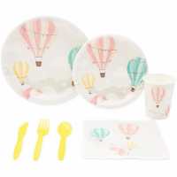 Serves 24 Hot Air Balloon Birthday Party Supplies Decorations for Kids - PACK
