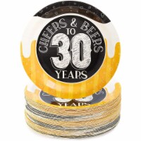 Sparkle and Bash Cheers & Beers to 30 Years Birthday Plates, 80 Pack, 9 in - PACK