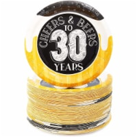 Cheers & Beers to 30 Years Paper Plates for 30th Birthday Party (7 In, 80 Pack) - PACK
