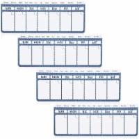 Magnetic Fridge Calendar, Dry Erase (11 x 4.2 in, 4 Pack) - PACK