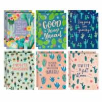Succulent 2-Pocket Folders for School, Letter Size, 6 Cactus Designs (12 Pack) - PACK
