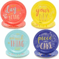 Colored Paper Plates Set, Birthday Party Supplies (4 Colors, 9 In, 48 Pack) - PACK