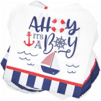 Nautical Paper Napkins for Baby Shower Party (6.5 x 6.5 In, 100 Pack) - PACK