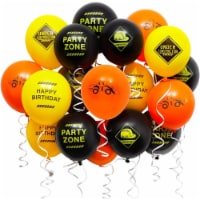 Construction Birthday Party Balloons (12 in, 50 Pack) - PACK