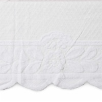Lace Floral Rectangle Table Cloth Cover for Dining Table, 60 x 98 inches, White - Pack