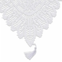 Juvale Lace Table Cloth Runner, 13 x 54 in, White