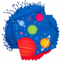 Outer Space Drawstring Party Favor Bags for Kids (12 x 10 In, 12 Pack) - PACK