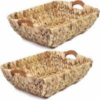 Juvale Hand Woven Wicker Storage Baskets (2 Pack)