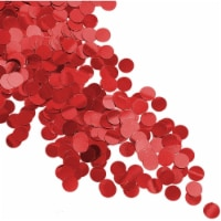 Red Confetti Circles for Birthday Party Decorations, Table Scatter (7 oz) - PACK