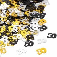 50th Confetti for Birthdays & Anniversaries (3 Colors, 7 oz) - PACK