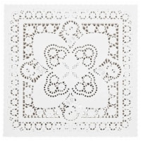 Juvale Square Paper Doilies (10 inch, White, 200 Pack) - PACK