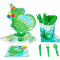 Serves 24 Dinosaur Birthday Party Supplies Dino T Rex Baby Shower Plates Napkins - PACK