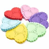 Mini Paper Heart Lace Doilies for Weddings, Valentine's Decor (6 Colors, 600 Pack) - PACK