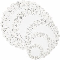 Lace Paper Doilies, Round White Placemats (5 Sizes, 100 Pack) - PACK