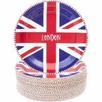 London Paper Plates for International Party (9 In, 80 Pack) - PACK