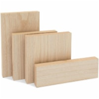 Unfinished Wood Blocks for Crafts, Painting, Wood Burning, 1 In Thick (4 Sizes, 4 Pack) - PACK