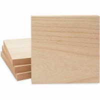 Unfinished Wood Blocks for Crafts, MDF Board for Wood Burning (10x10 In, 4 Pack) - PACK