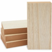 Unfinished Wood Blocks for Crafts, Painting, Wood Burning (4 x 8 x 1 in, 4 Pack) - PACK