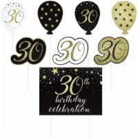 Happy 30th Birthday Yard Signs with Stakes, Outdoor Lawn Decorations (8 Pieces) - PACK