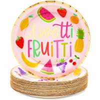 Two-tti Frutti Paper Plates for 2nd Birthday Party Decorations (9 In, 48 Pack) - PACK