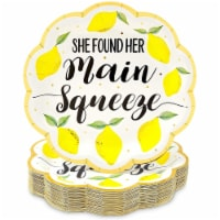 Lemon Party Plates, She Found Her Main Squeeze (9 In, 48 Pack) - PACK