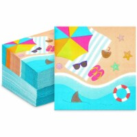 Summer Travel Cocktail Napkins for Tropical Luau Party (5 x 5 In, 100 Pack) - PACK